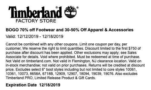 Timberland Sale!