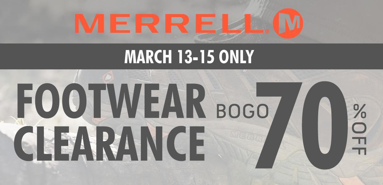 Merrell BOGO Sale!