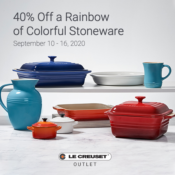 Save 40% on a Rainbow of Colorful Stoneware